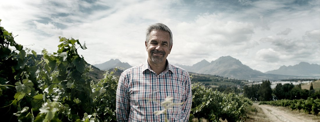 """I am Pam"" says Doug Gurr, Pam Golding Properties agent Franschhoek in the heart of Cape Winelands"
